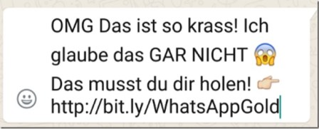 whatsapp gold fake