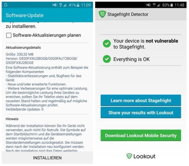 Stagefright Update Galaxy S6