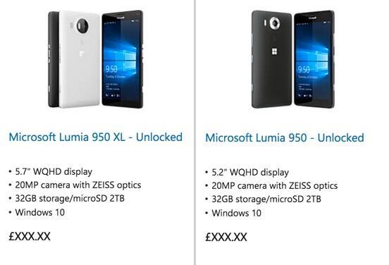 Lumia 950 XL Eintrag Msft