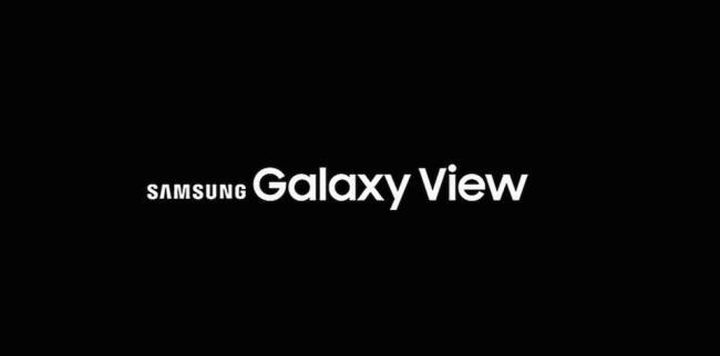 Samsung Galaxy View Schriftzug