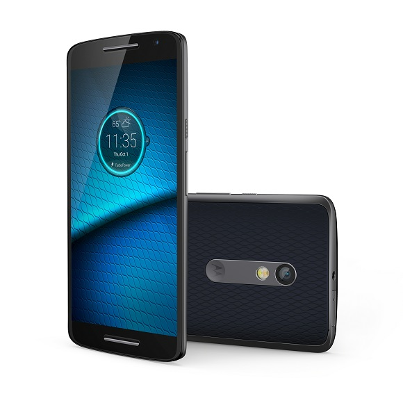 Droid Maxx 2 Deep Sea Blue Front and Back