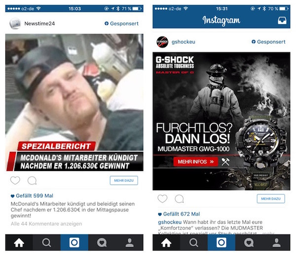 Instagram Werbung 1
