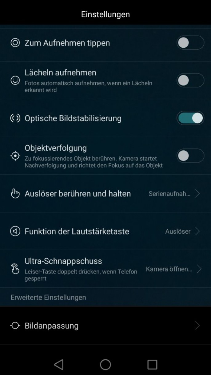 huawei mate s cam ui settings 2