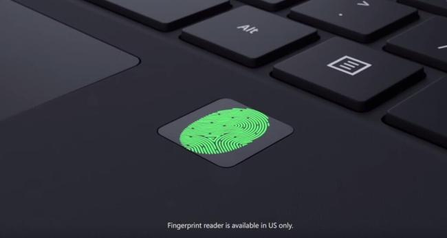 surface 4 pro fingerpint reader
