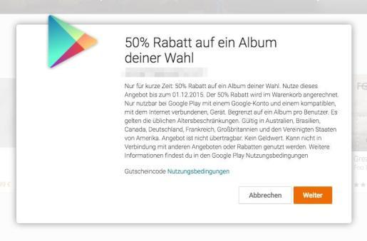 50 prozent rabatt album play music
