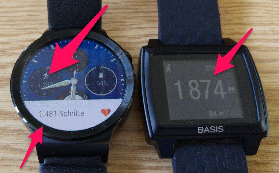 Huawei Watch Intel Basis Peak Schrittzähler