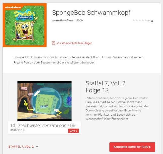 spongebob google