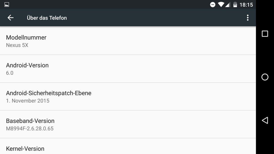 Stock Android Marshmallow Nexus 5X 2015-12-09 17.15.05