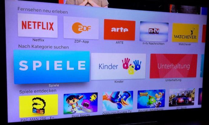 apple tv kategorie