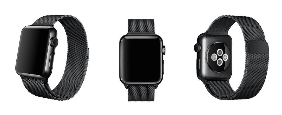 Apple Watch Milanaise Armband Schwarz