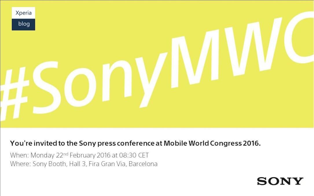 Sony MWC 2016 Einladung