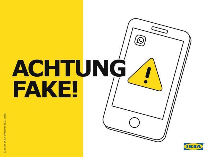 WhatsApp IKEA Fake