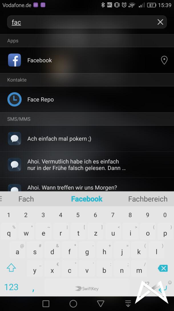 Huawei Mate 8 Suche