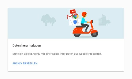 google daten exportieren