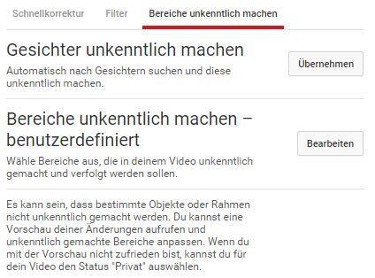 youtube unkenntlich machen