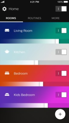2_1_Philips_Hue_app_home_dashboard