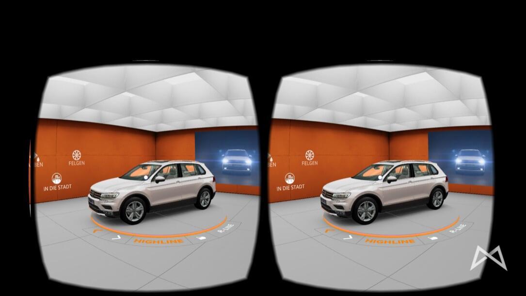 VW Tiguan Touran VR-Brille