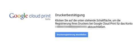 brother google cloud print bestaetigung
