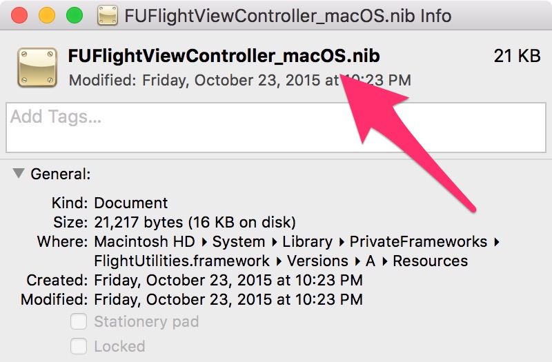 macOS Datei
