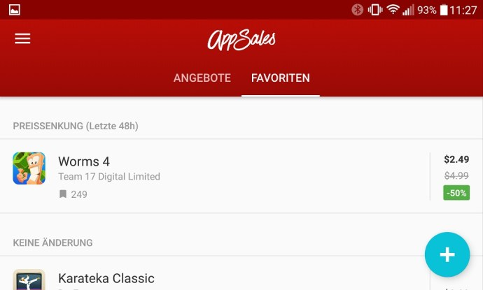 appsales screenshot