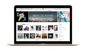 iTunes Macbook Gold Header