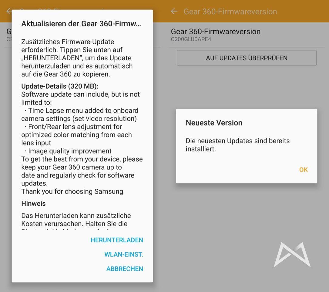 Samsung Gear 360 Firmware Update
