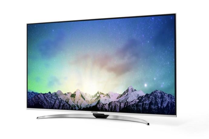 """Neben den beiden Flaggschiff-TVs präsentiert MEDION mit dem MEDION X18092 zudem noch eine UHD-TV-Studie mit einer Bildschirmdiagonale von 163,8 cm (65"""") und einer Auflösung von bis zu 3.840 x 2.160 Pixeln."""
