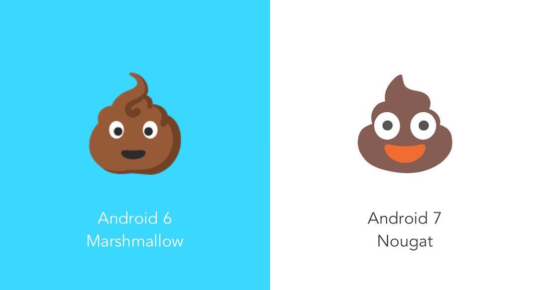 Android Emoji Unterschied