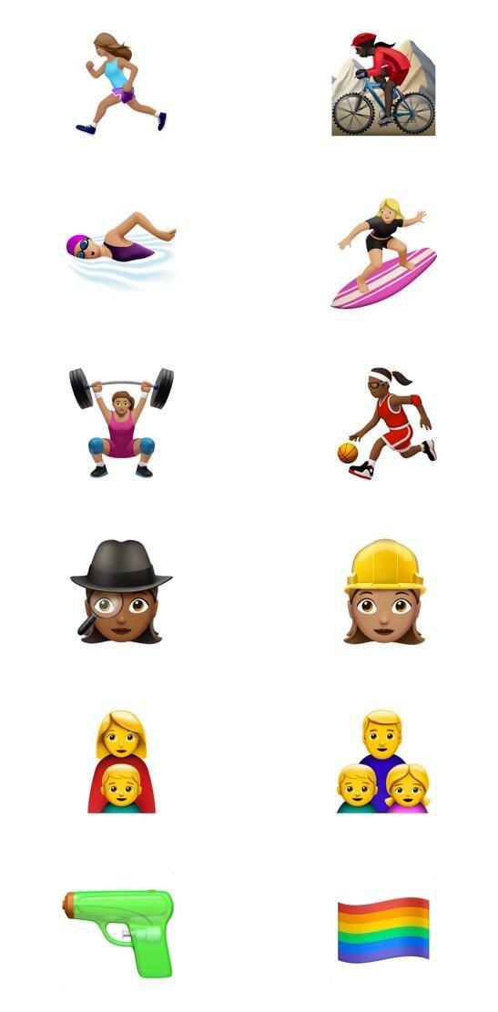 Apple Emoji Neu iOS 10