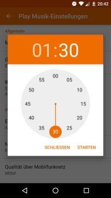 Google Play Music v6.13 Timer
