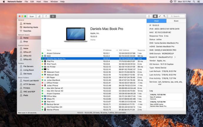 Network RADAR - Screenshot