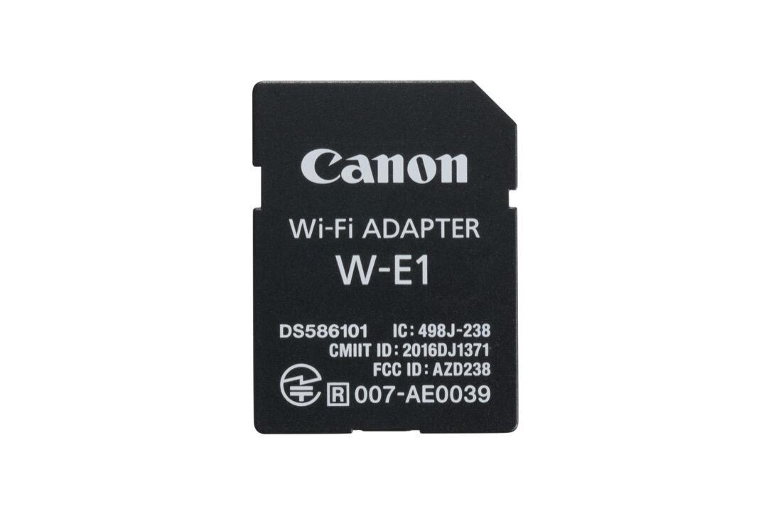 wifi sd karte canon stellt wlan adapter w e1 vor. Black Bedroom Furniture Sets. Home Design Ideas