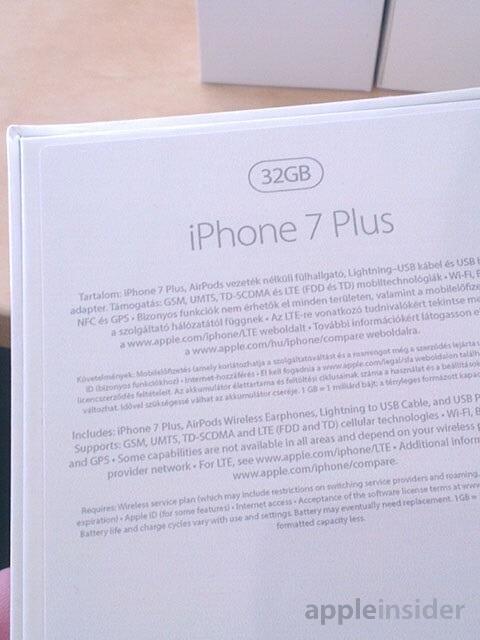 iPhone 7 Plus Verpackung