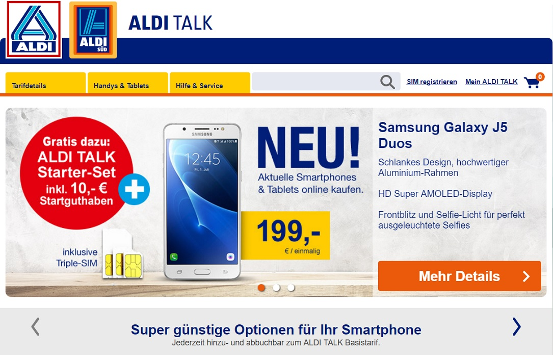 aldi talk startet onlineshop f r smartphones. Black Bedroom Furniture Sets. Home Design Ideas