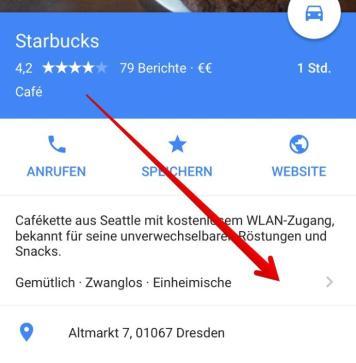 google maps infos