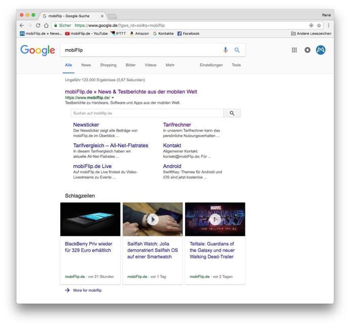 Das neue Design für die Google-Suche