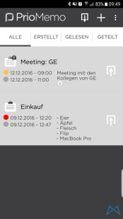 PrioMemo Screenshot_20161209-094923