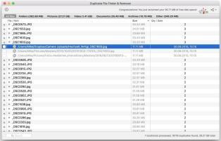 Duplicate File Finder Ergebnis