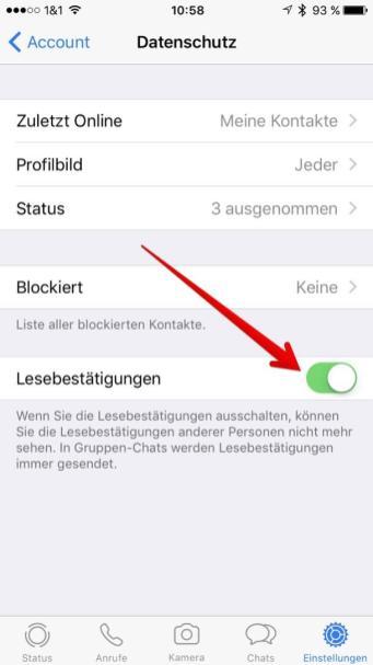 Whatsapp Lesebestätigung Nachträglich Deaktivieren Whatsapp