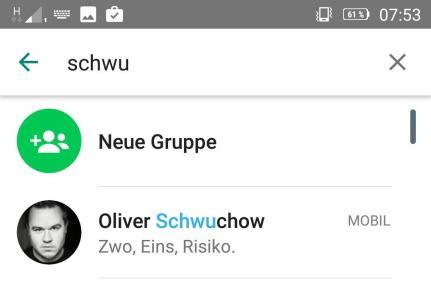 whatsapp status kontakliste