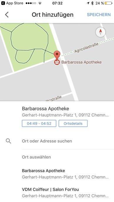 Google Maps Ios Einchecken