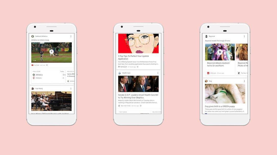 Neuer intelligenter Feed für die Google App