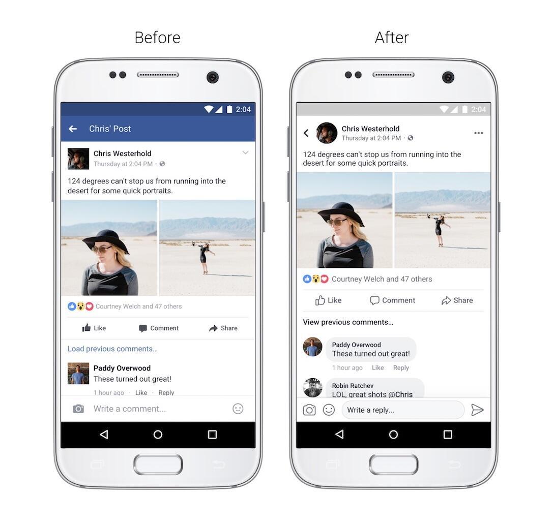 Facebook Design Navigation