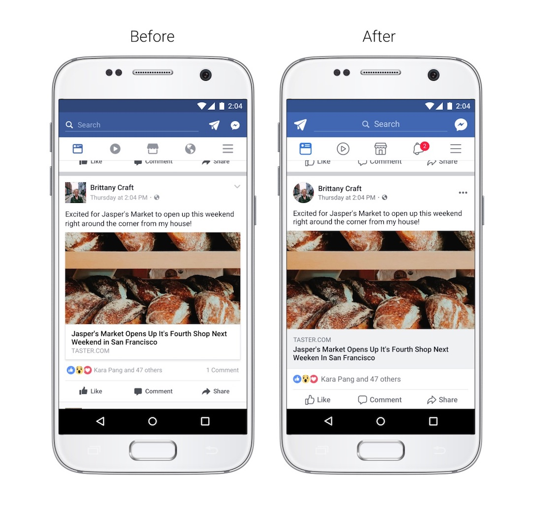 Facebook Design Newsfeed