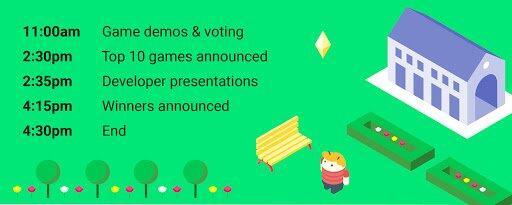 Google Indie Games Festival Schedule