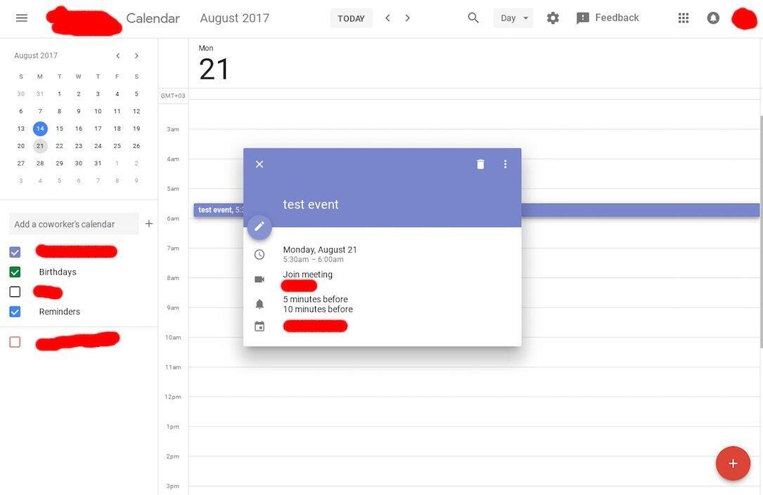 Google Kalender Design 1