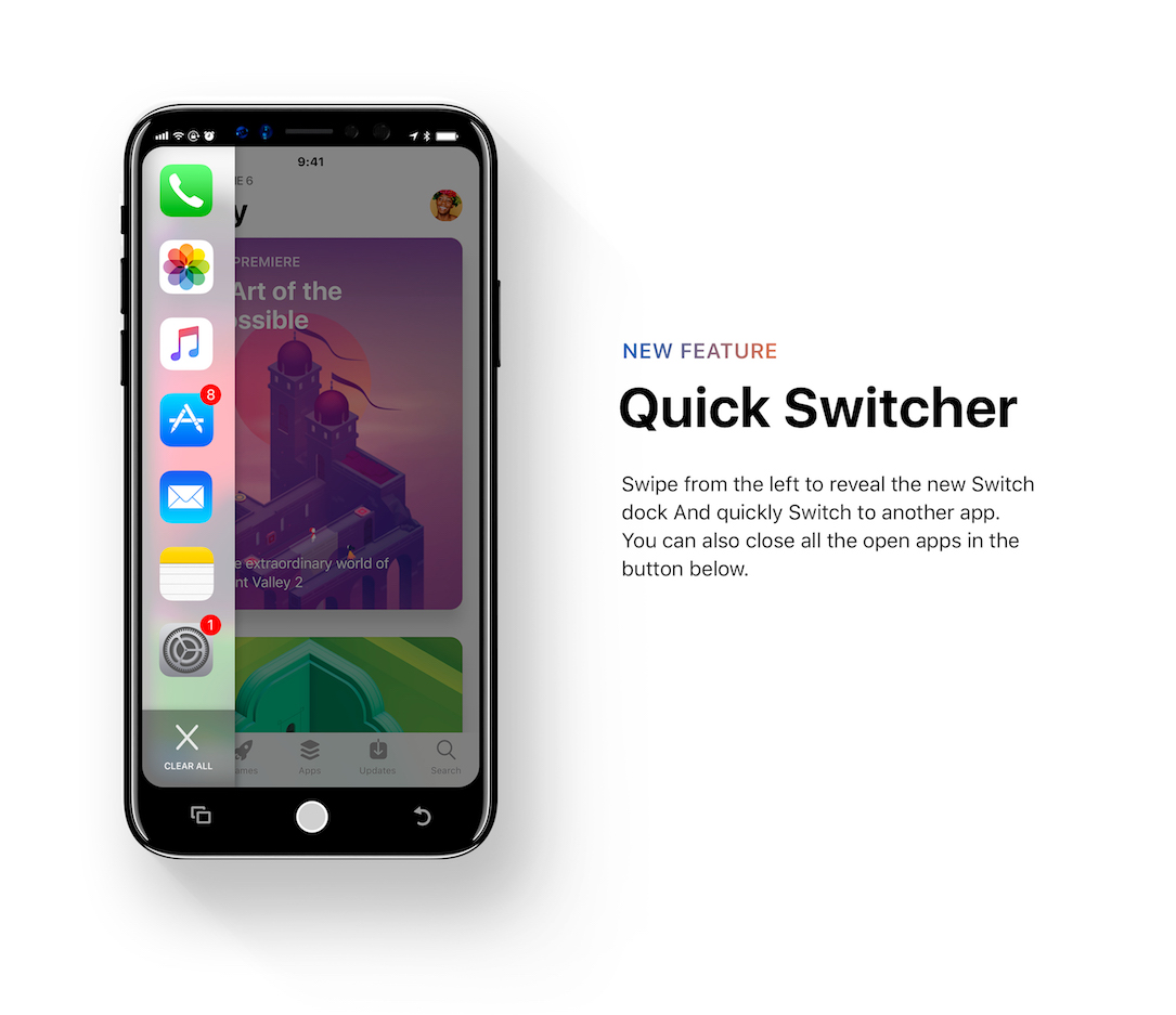 Iphone Pro Ios 12 Konzept Switcher