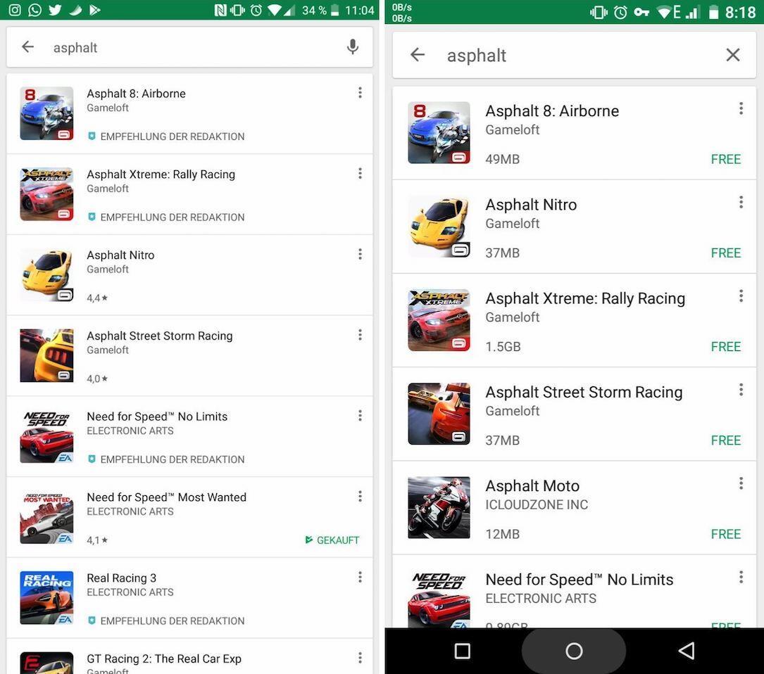 Google Play Suche Datei