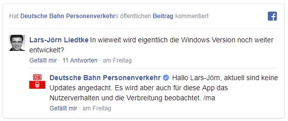Bahn Kommentar Windows