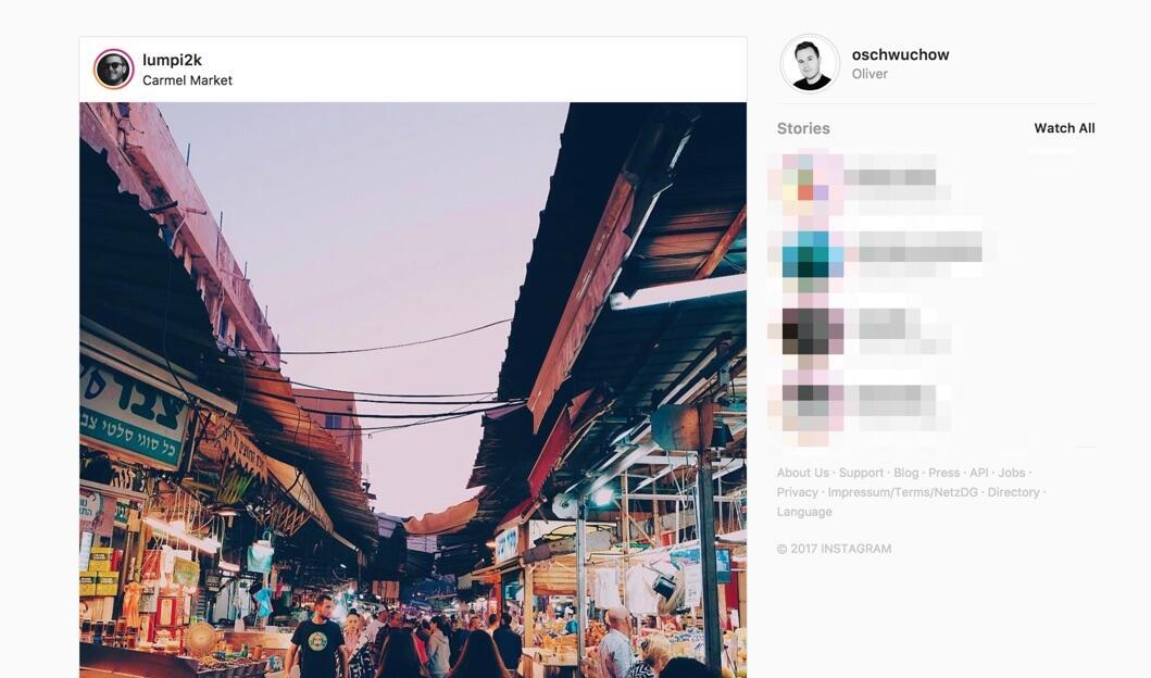 Instagram Stories Browser